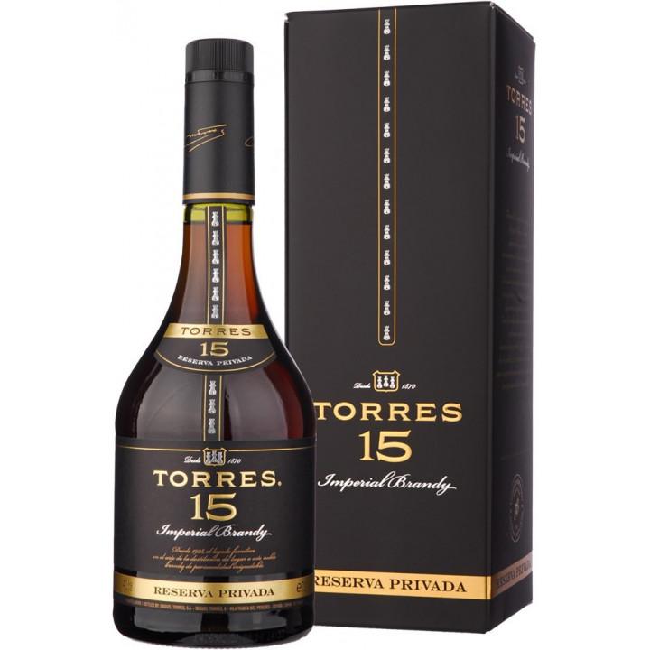 Бренди Torres 15 Reserva Privada, gift box, 0.7 л