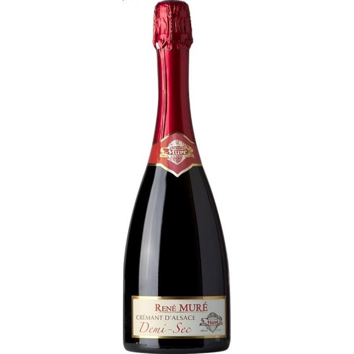 Игристое вино Rene Mure, Cremant d'Alsace Demi-Sec