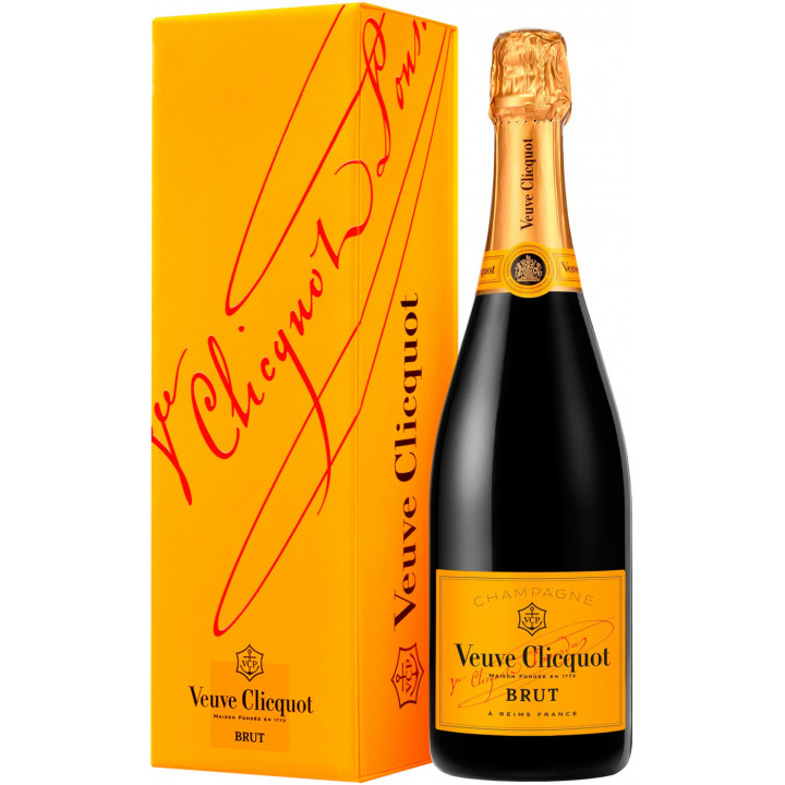 Шампанское Veuve Clicquot, Brut, with gift box