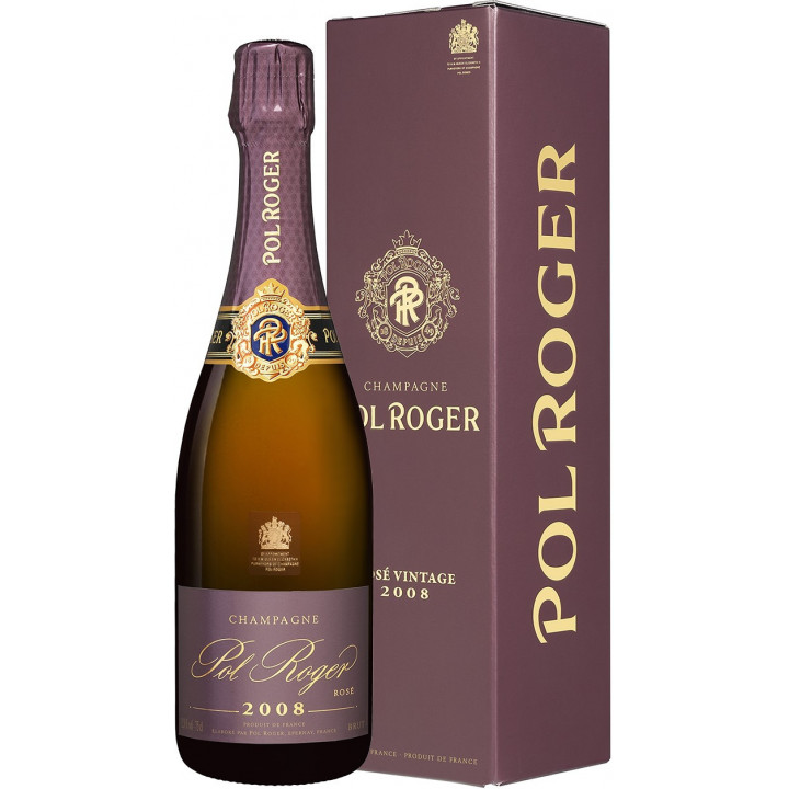 Шампанское Pol Roger, Brut Rose, 2008, gift box