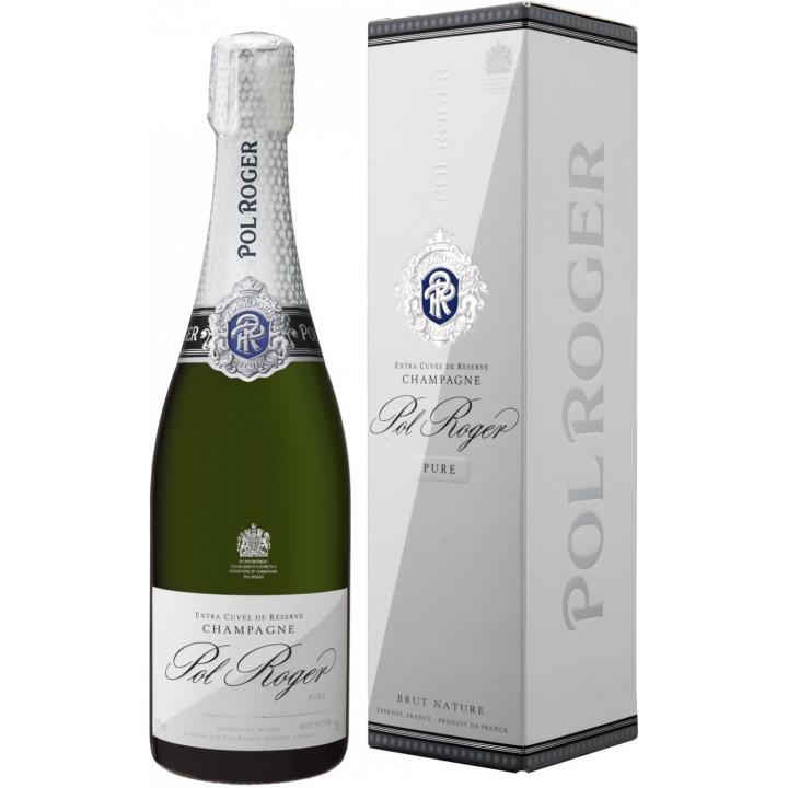 """Шампанское Pol Roger, """"Pure"""" Extra Brut, Champagne AOC, gift box"""