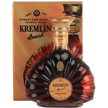 "Коньяк ""Kremlin Award"" 10 Years Old, gift box, 0.5 л"