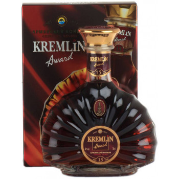 "Коньяк ""Kremlin Award"" 15 Years Old, gift box, 0.5 л"