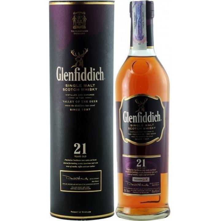 "Виски ""Glenfiddich"" 21 Years Old, in tube, 0.7 л"