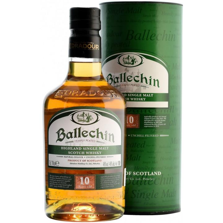 """Виски """"Ballechin"""" 10 Years Old, in tube, 0.7 л"""
