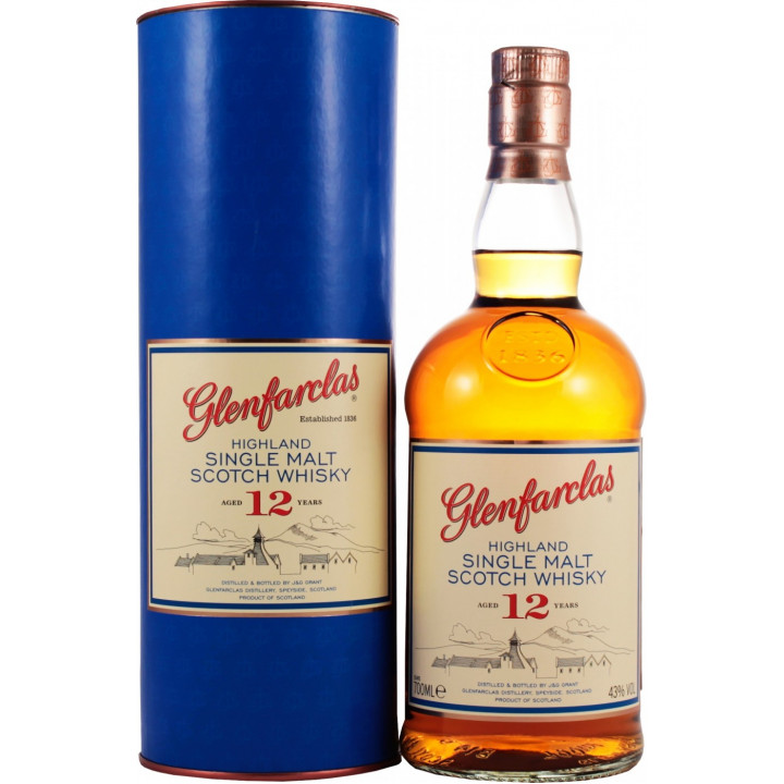 Виски Glenfarclas 12 years, In Tube, 0.7 л