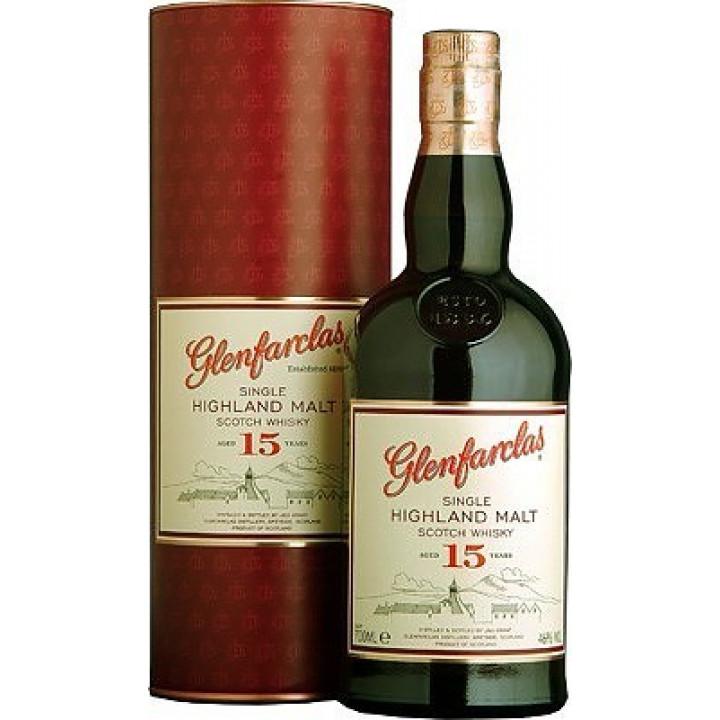 Виски Glenfarclas 15 years, in tube, 0.7 л