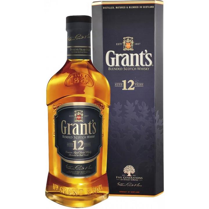 """Виски """"Grant`s"""" 12 years old, gift box, 0.75 л"""
