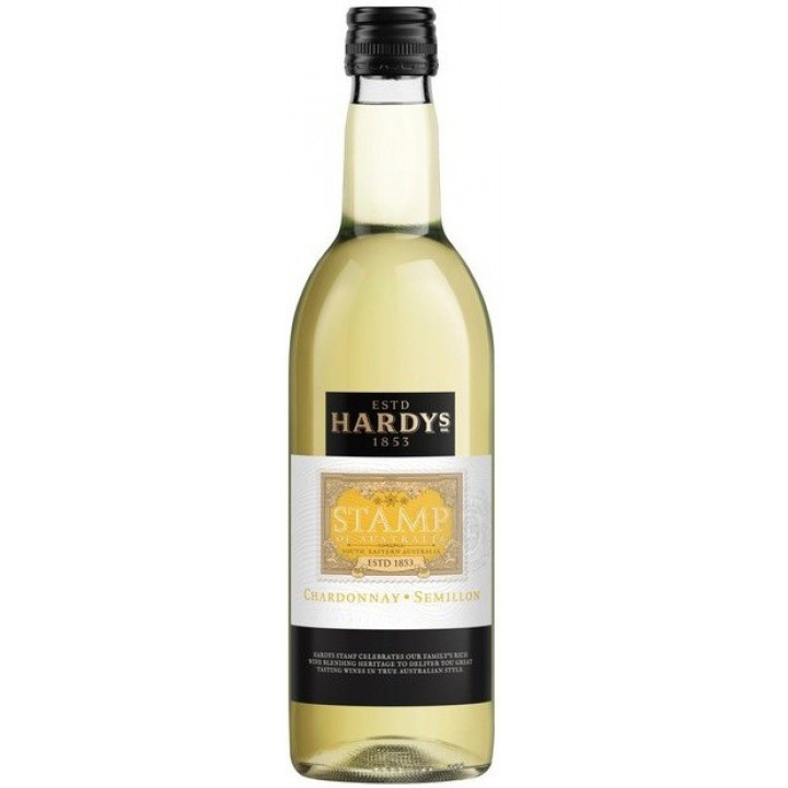 "Вино Hardys, ""Stamp"" Chardonnay-Semillon, 2017, 187 мл"