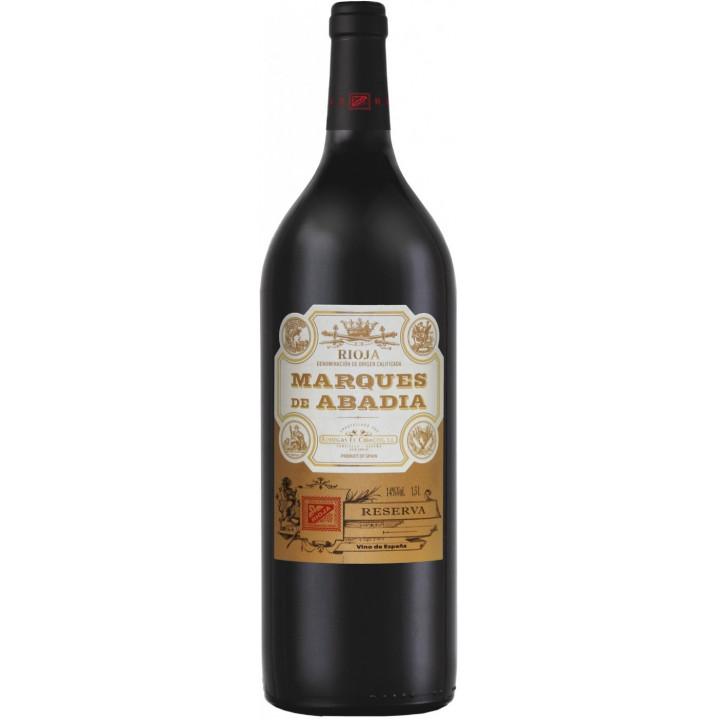 """Вино Bodegas El Cidacos, """"Marques de Abadia"""" Reserva, Rioja DOC, 2013, 1.5 л"""