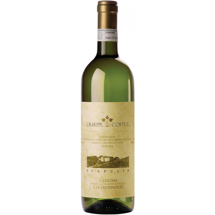 "Вино Giuseppe Cortese, ""Scapulin"" Chardonnay, Langhe DOC, 2016"