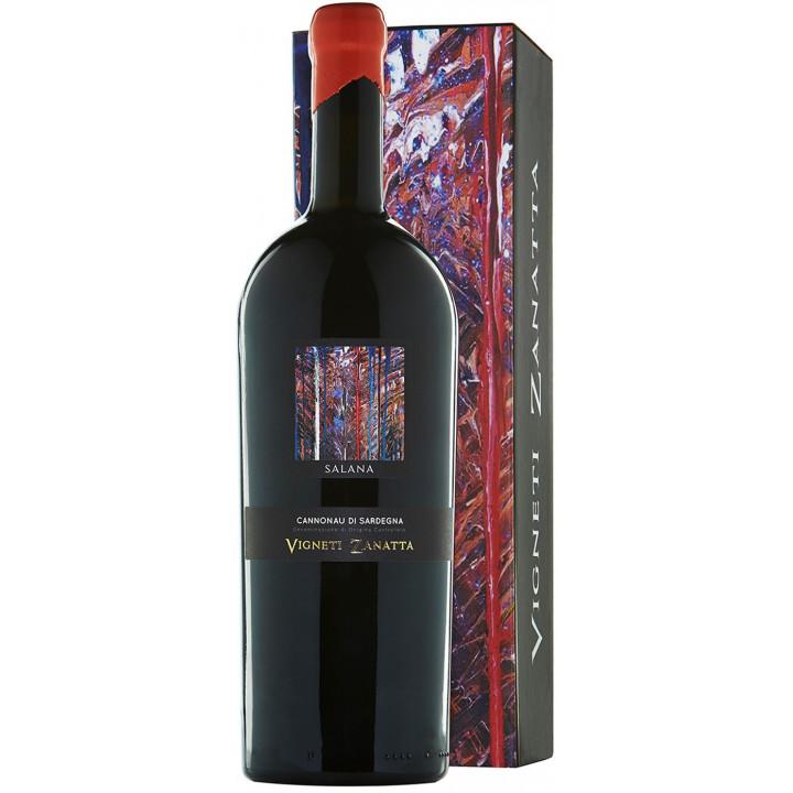 """Вино Vigneti Zanatta, """"Salana"""" Cannonau di Sardegna DOC, gift box, 1.5 л"""